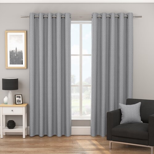 Euria Eyelet Blackout Thermal Curtains August Grove Colour: