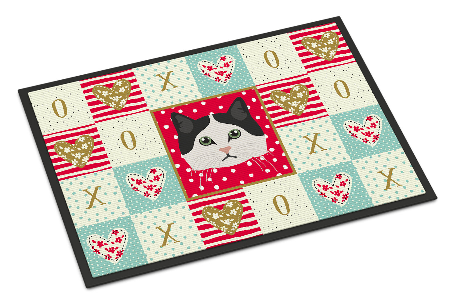 The Holiday Aisle Dalessio Ragamuffin Cat 36 In X 24 In Non Slip Indoor Outdoor Door Mat Wayfair