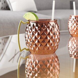 Morris Pineapple Shaped Copper 16 Oz. Moscow Mule Mug