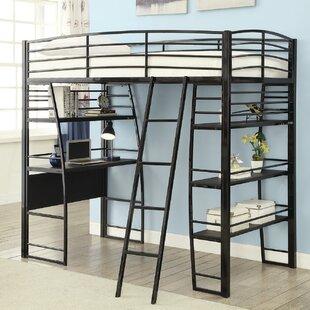 Bargain Garden Workstation Twin Loft Bed ByZoomie Kids