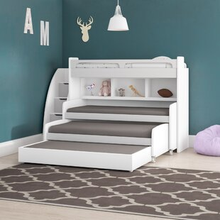 Gautreau Twin Triple Bunk Bed with Trundle