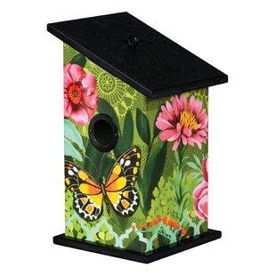 Studio M Butterfly's Paradise Universal 12.25 in x 7 in x 7 in Birdhouse