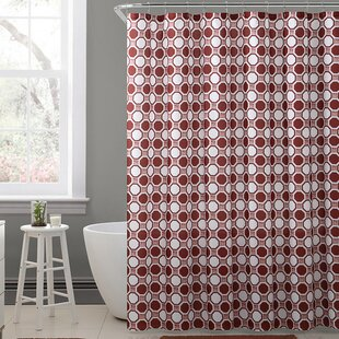 Cristen Royal Bath Geometric Tiles Polyester Single Shower Curtain