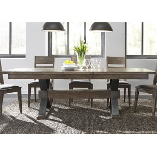 Cleaver Trestle 8 Piece Extendable Dining Set by Gracie Oaks 2019 Coupon