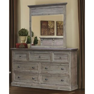 Kenric 7 Drawer Dresser with Mirror