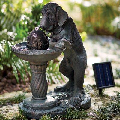 Sigmon Fiberglass Solar Canine Fountain