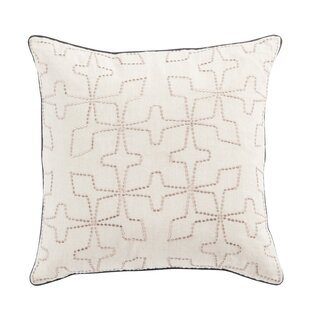 Cosmic By Nikki Chu Living Greta Geometric Linen Throw Pillow by Nikki Chu Discount