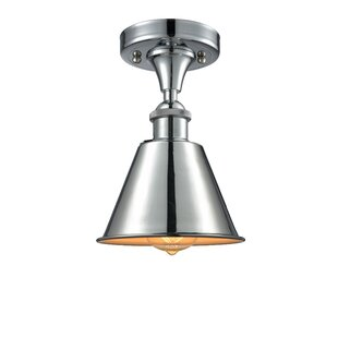 Nakayama 1-Light Semi Flush Mount by Beachcrest Home
