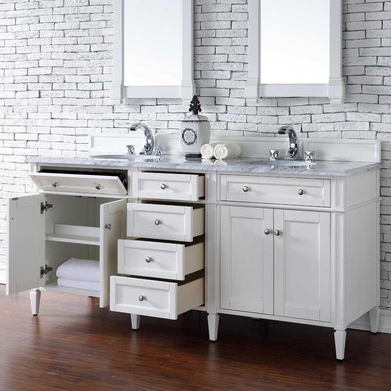 Brittany 72 Double Bathroom Vanity Base Only