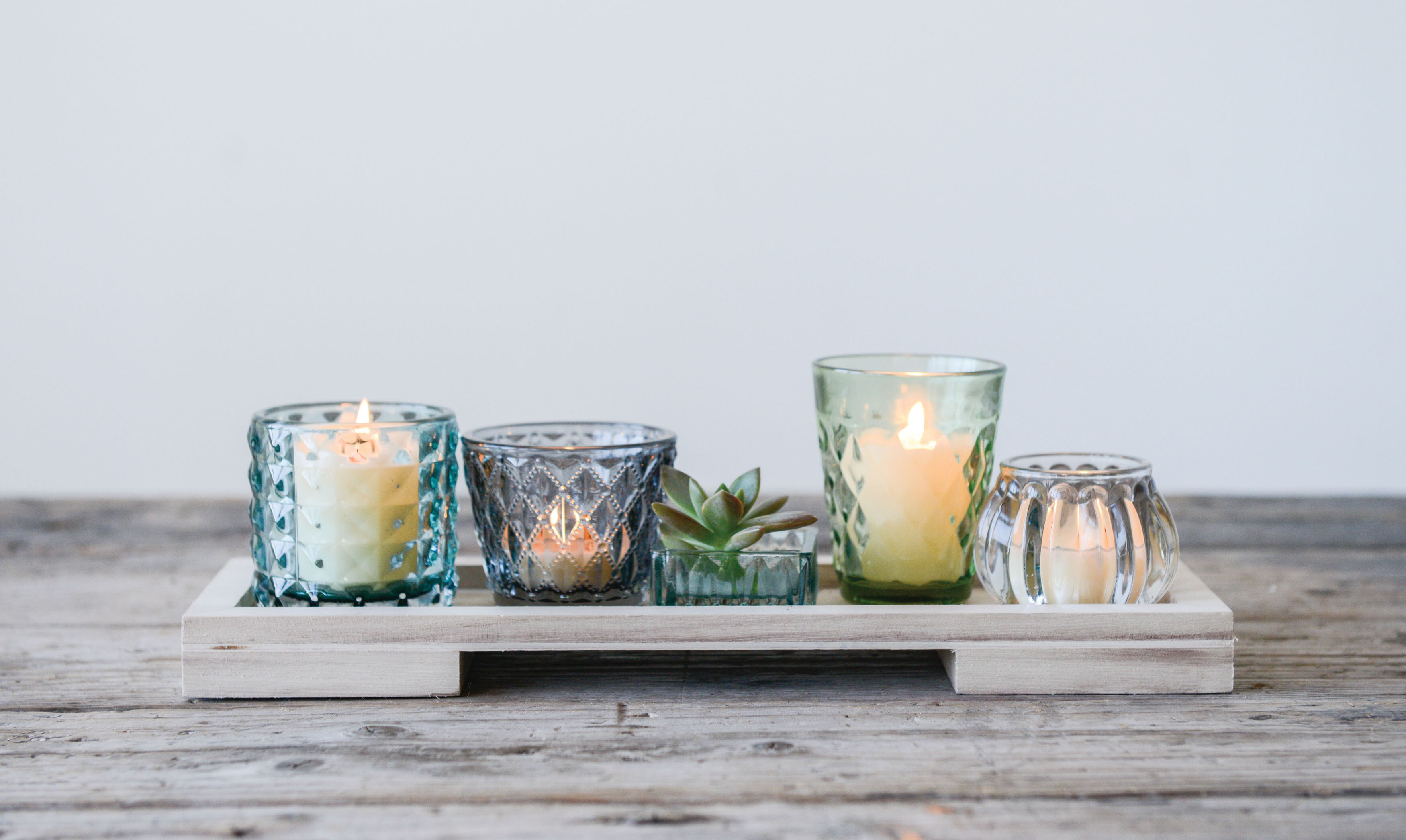 Modern 6 Piece Tealight Holder Candle Set