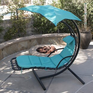 Belleze Polyester Hanging Chaise Lounger with Stand