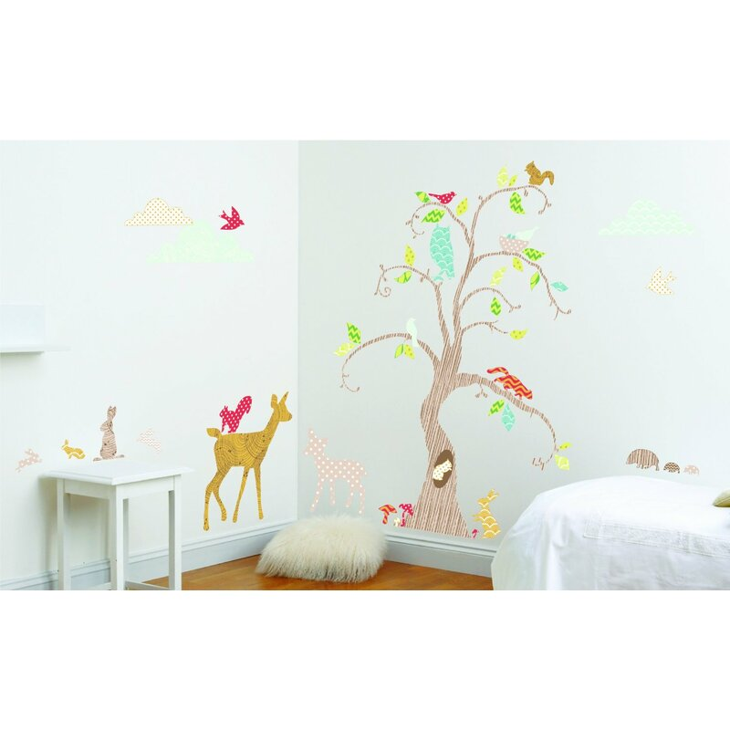 Home Decor Home & Garden Forest Owl Butterfly Swing Rabbit Squirrel Wall Stickers Animal Tree For Kids Rooms Children Baby Nursery Rooms Home Decor Quality First