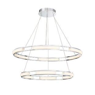 Orren Ellis Sturtz 8-Light LED Geometric Chandelier