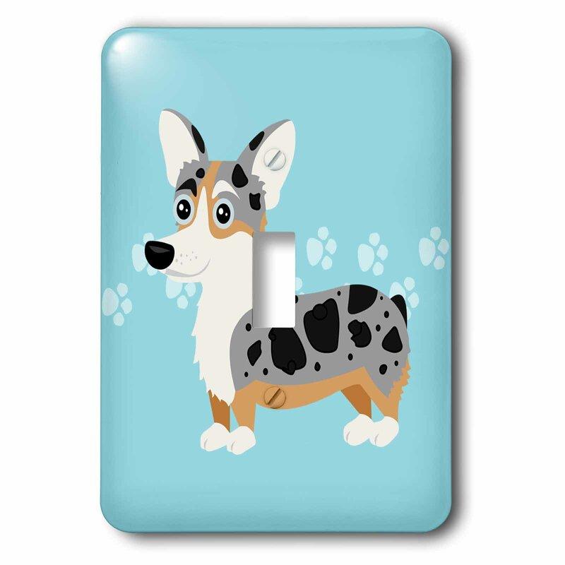 3drose Cute Cartoon Corgi Art Merle 1 Gang Toggle Light Switch Wall Plate Wayfair