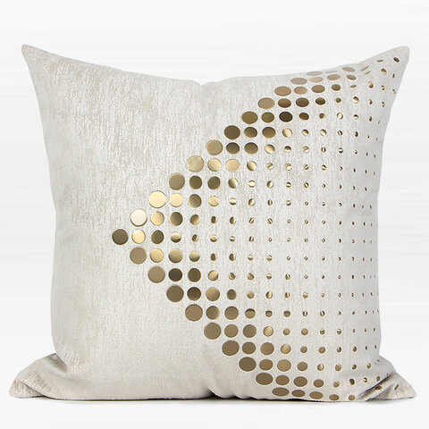Everly Quinn Larisa Textured Dots Arrow Pattern Square Throw Pillow