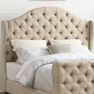 Darby Home Co Wydmire Button Tufted Linen Upholstered Wingback Headboard