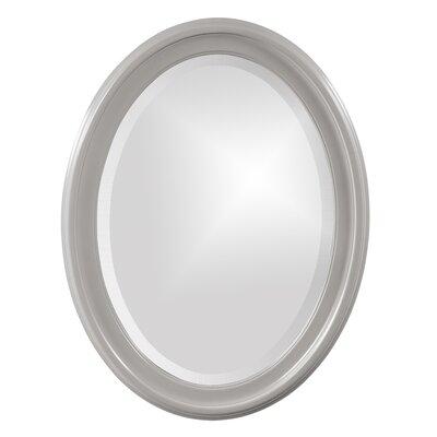 House of Hampton Houstonia Wall Mirror Finish: Nickel