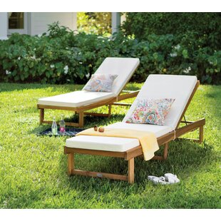 Matheny Reclining Chaise Lounge with Cushion