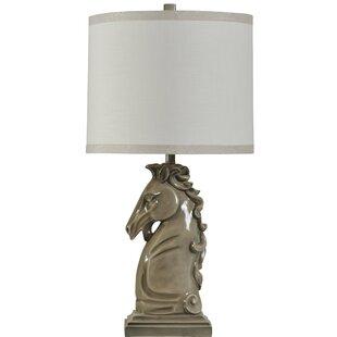 Horse lamp wayfair fifer ceramic horse head 34 table lamp aloadofball Gallery