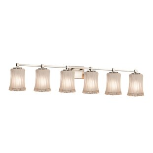 Darby Home Co Meadowland 6-Light LED Glass Shade Vanity Light