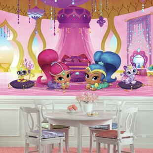 Shimmer and Shine Genie Palace XL Chair Rail Prepasted 10.5' x 72 Wall Mural By Room Mates