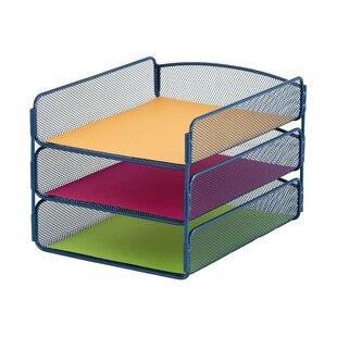 Rebrilliant Mesh Desktop Organizer with Triple Tray