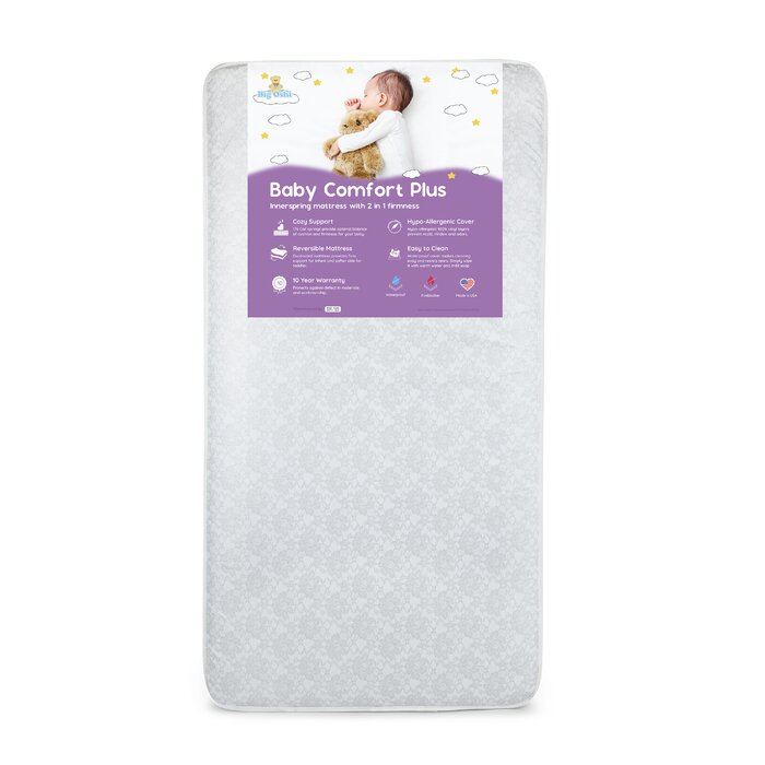 buy popular 65197 2b284 Baby Comfort Plus Orthopedic Extra Firm Foam 2-Stage Standard Crib Mattress