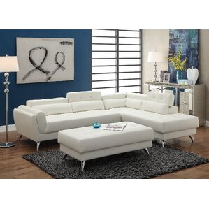 Bobkona Jolie Reclining Sectional  sc 1 st  Wayfair : sectional with recliner and chaise - Sectionals, Sofas & Couches