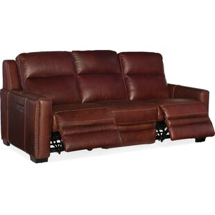 Aviator Leather Reclining Sofa