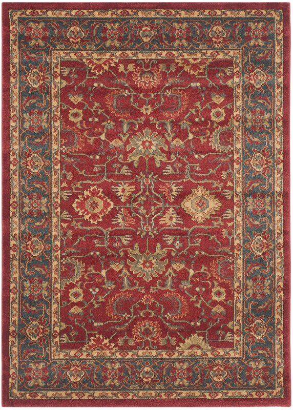 Coleraine Red Area Rug