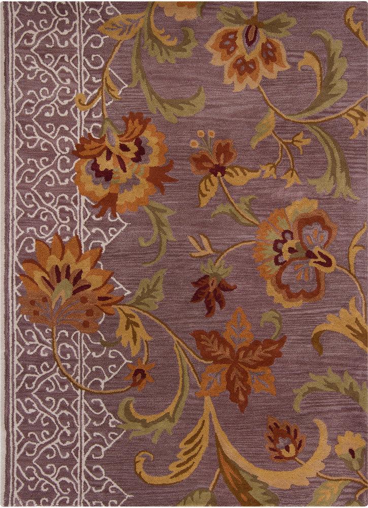 Darby Home Co Bartz Purple Floral Area Rug Wayfair