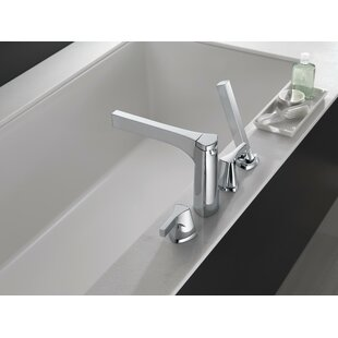 Zura Double Handle Deck Mount Roman Tub with Hand Shower Trim ByDelta