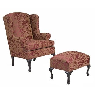 Surprising Ruthanne Wingback Chair And Ottoman Bralicious Painted Fabric Chair Ideas Braliciousco