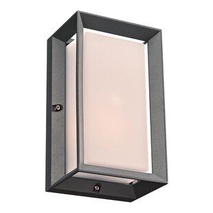 Ebern Designs Lostwithiel 1-Light Outdoor Flush Mount
