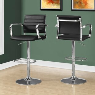 Find Ivanhoe Adjustable Height Swivel Bar Stool (Set of 2) by Latitude Run