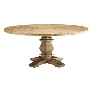 Indurial Solid Wood Dining Table Millwood Pines