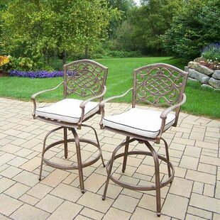 Look for Mississippi 27 inch  Patio Bar Stool with Cushion (Set of 2) Look & reviews
