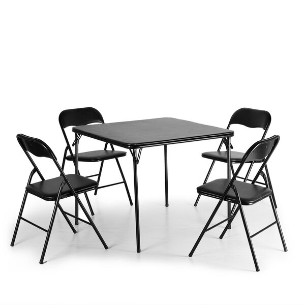 Clihome 33.85'' 4 - Player Card Table with Chairs | Wayfair