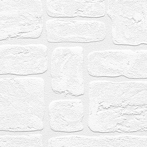 Andrew 33′ x 21″ Textured Paintable Bricks Roll Wallpaper
