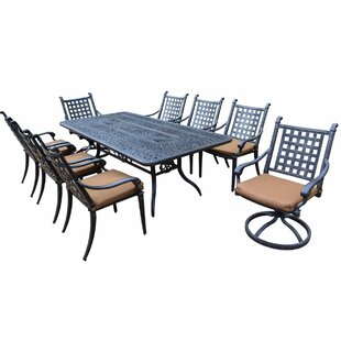 Darby Home Co Arness 12 Piece Metal Dining Set and Bistro Set