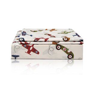Planes & Cars 200 Thread Count 100% Cotton Sheet Set