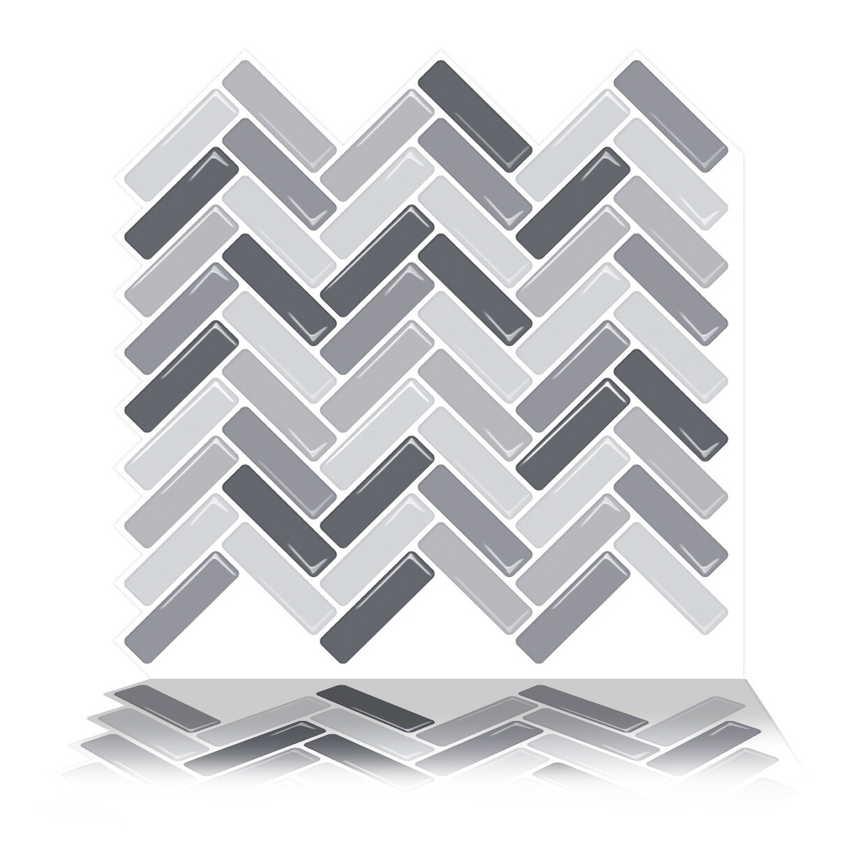Tictactiles 10 X 10 Pvc Peel Stick Mosaic Tile In Gray Reviews Wayfair