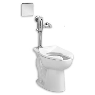 American Standard Madera System Selectronic Exposed AC Flush Valve 1.28 GPF Elongated One-Piece Toilet
