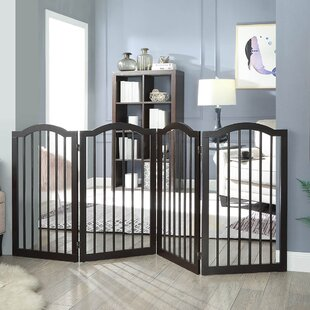 Hutchens Freestanding Arched Decorative Pet Gate by Archie & Oscar