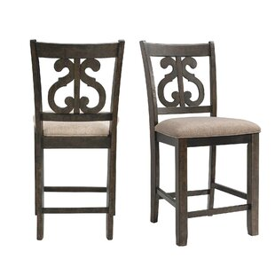 Hot Springs Counter Upholstered Dining Chair (Set of 2) Three Posts