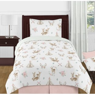 Deer Floral Comforter Set by Sweet Jojo Designs