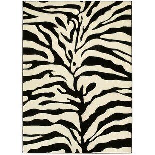 Animal Print Hand-Woven Black/White Area Rug ByLYKE Home