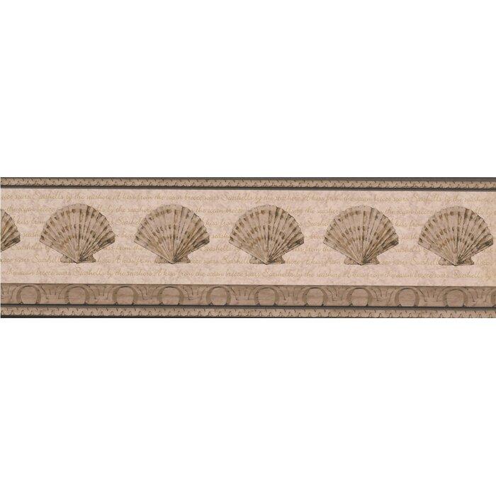 Dunkirk Sepia Seashells 15 L X 7 W Abstract Wallpaper Border