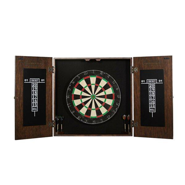 New Barrington Premium Bristle Dartboard Cabinet Set Free Shipping