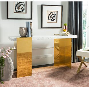 Everly Quinn Kuhl Marble Console Table